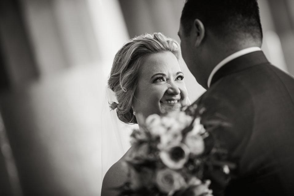 novia sonriendo